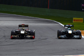 Heikki Kovalainen, Lotus and Bruno Senna, Renault, Spa 2011