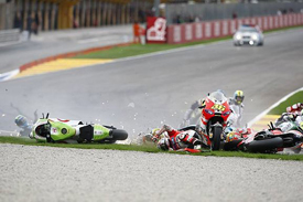 Valencia MotoGP start crash