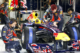 Red Bull garage