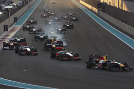 Start 2011 Abu Dhabi Grand Prix