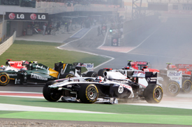 Rubens BArrichello Williams 2011 Indian Grand Prix