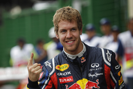 Sebastian Vettel Red Bull 2011 Brazilian Grand Prix
