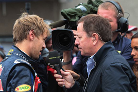 Martin Brundle interviews Sebastian Vettel
