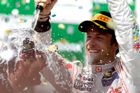 Jenson Button McLaren Brazil 2011