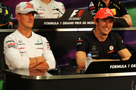 Michael Schumacher Jenson button 2011
