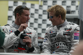 David Coulthard and Kimi Raikkonen at McLaren in 2003