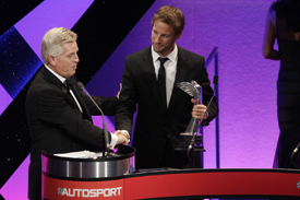 Jenson Button at the AUTOSPORT Awards