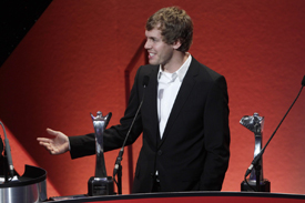 Sebastian Vettel at the AUTOSPORT Awards