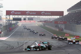 Michael Schumacher Mercedes 2011 Indian Grand Prix