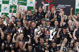 Red Bull team celebration
