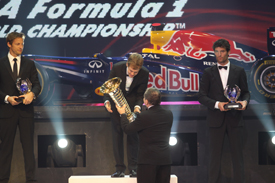 Sebastian Vettel at the FIA prize giving