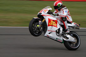 2011 British Grand Prix MotoGP, Simoncelli action, Honda RC212V