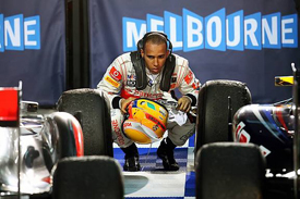 Hamilton chased Vettel home in Australia