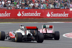 Massa and Hamilton wheel-banged their way to the flag at Silverstone