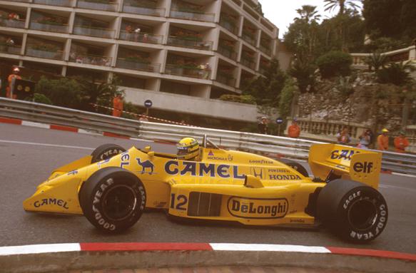 Ayrton Senna Lotus 1987 Monaco grand Prix