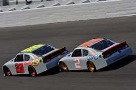 Tandem drafting at Daytona test