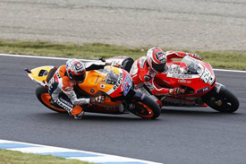 Casey Stoner and Nicky Hayden, Motegi 2011
