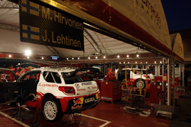 Citroen service park 2012 Monte Carlo Rally WRC