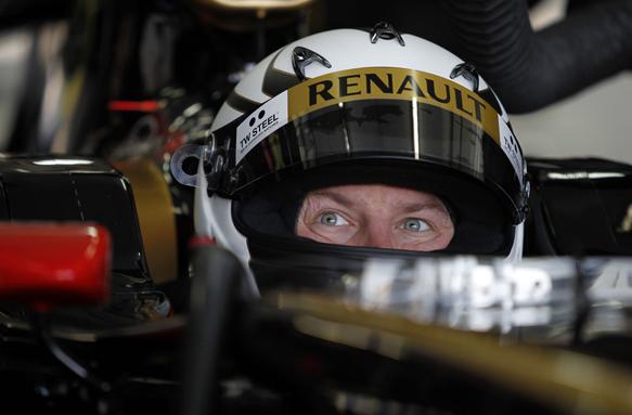 Kimi Raikkonen Lotus test Valencia 2012