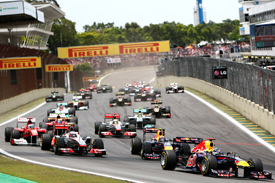 Start 2011 Brazilian Grand Prix