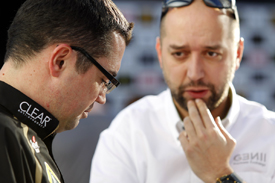 Eric Boullier and Gerard Lopez