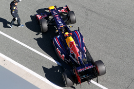 Mark Webber Red Bull RB8 Jerez test 2012