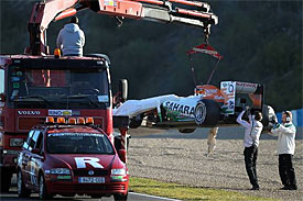 Jules Bianchi Force India Jerez crash