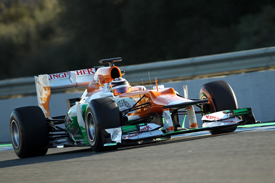 Nico hulkenberg Force India Jerez test 2012