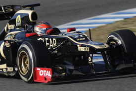 Romain Grosjean Lotus 2012 Jerez test