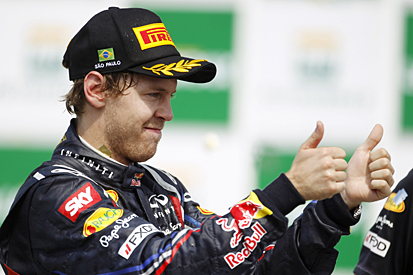 Sebastian Vettel Red Bull Racing 2011 Brazilian Grand Prix Autodromo Jose Carlos Pace Interlagos
