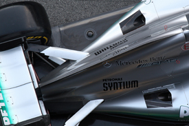 Mercedes F1 exhaust grand prix 2012