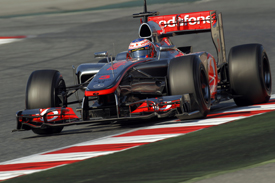Jenson Button McLaren 2012 Barcelona testing