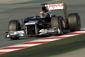 PAstor Maldonado Williams 2012 Barcelona test