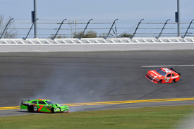 Danica Patrick crashes at Daytona