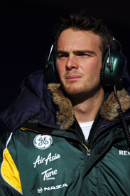 Giedo van der Garde Caterham Barcelona test 2012