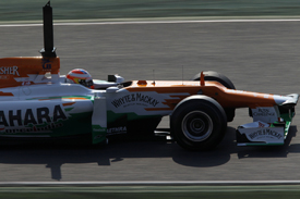 Paul di Resta, Force India, Catalunya testing 2012