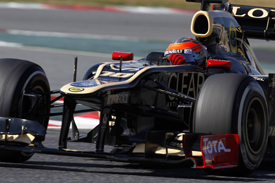 Romain Grosjean Lotus 2012 Barcelona testing