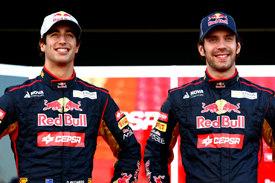 Daniel Ricciardo and Jean-Eric Vergne