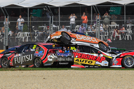 Melbourne V8s crash