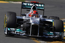 Michael Schumacher, Mercedes, Melbourne 2012