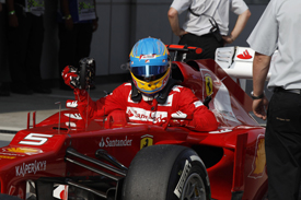 Fernando Alonso Ferrari 2012 Malaysian Grand Prix