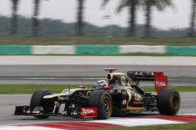 Kimi Raikkonen Lotus 2012 Malaysian Grand Prix