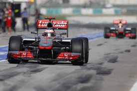 Jenson button lewis hamilton mclaren Malaysian Grand prix 2012