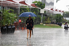 Poor weather halts Malaysian GP