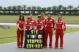 Ferrari's tribute to Simoncelli