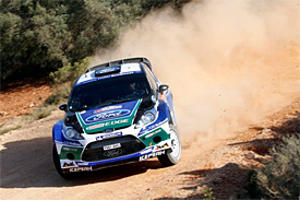 Solberg ended on the podium in the end