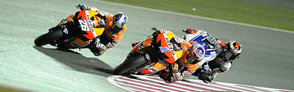 This year's three championship contenders? Stoner, Pedrosa and Lorenzo