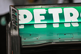 Mercedes rear wing