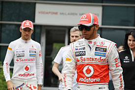 Lewis Hamilton and Jenson Button, McLaren, 2012