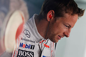 Jenson Button is having trouble with tyres